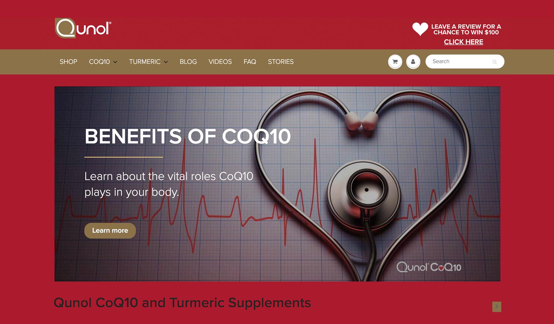 Qunol - Website Redesign